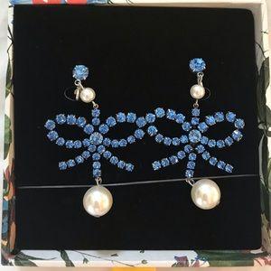 H&M x ERDEM Blue Bow Earrings